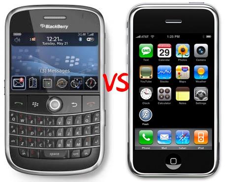 blackberryvsiphone