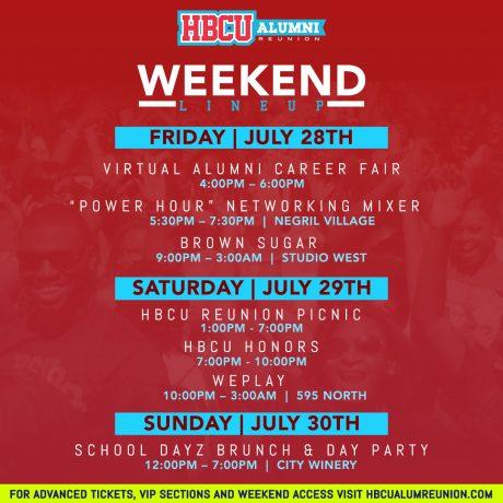 HBCU Reunion weekend